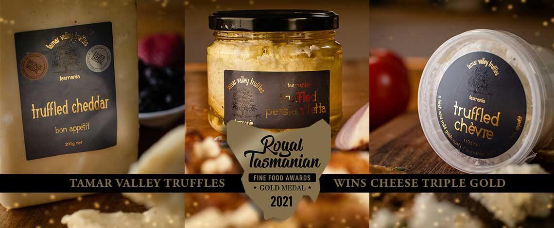 Tamar Valley Truffles wins Cheese Triple Gold!